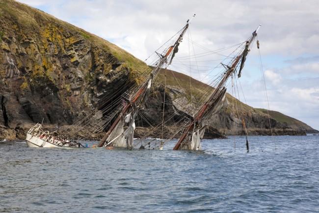 Astrid aground